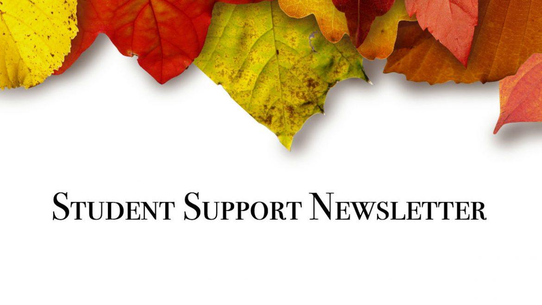 Student Support Newsletter Nov