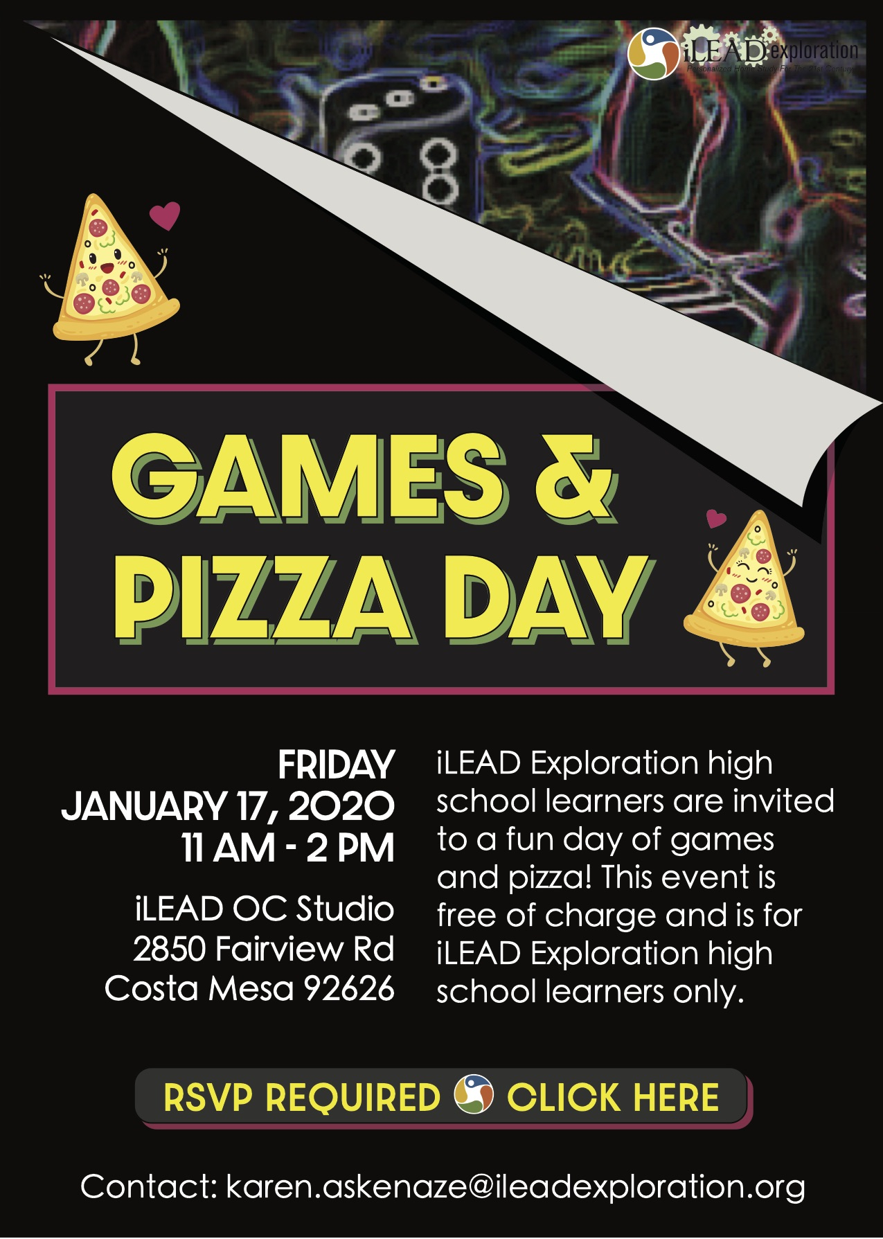 Game and Pizza Day Dark